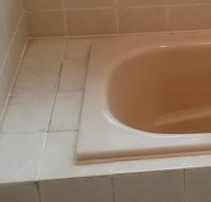 施工後(浴槽へり①)