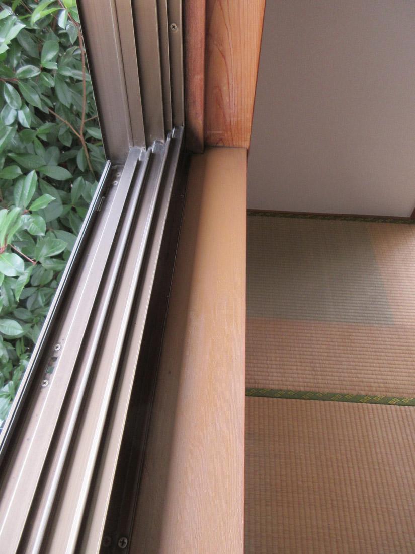 和室窓枠リペア補修後